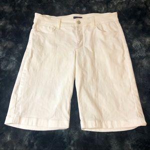NYDJ White Bermuda Jean Shorts Size 8